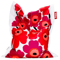 the MARIMEKKO Flower&#x27;s Unikko Red - Poltrona sacco - Fatboy