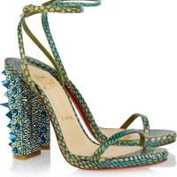 Christian Louboutin|Palace 120 Swarovski crystal-embellished snake sandals|NET-A-PORTER.COM