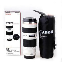 Canon Lens Style Ef 70-200mm F/4l Stainless Steel Interior Coffee Mug Cup