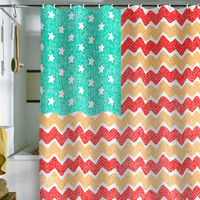DENY Designs Home Accessories | Nick Nelson Zig Zag Flag Shower Curtain