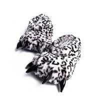 Fashion Animal Paw Slippers Warm Soft Adorable Winter indoor