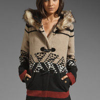 BB Dakota Arlet Colorblock Pattern Coat in Light Camel from REVOLVEclothing.com