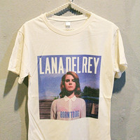 Lana Del Rey T-Shirt Tee Shirt Indie Pop Women T Shirts Off White TShirt Size L