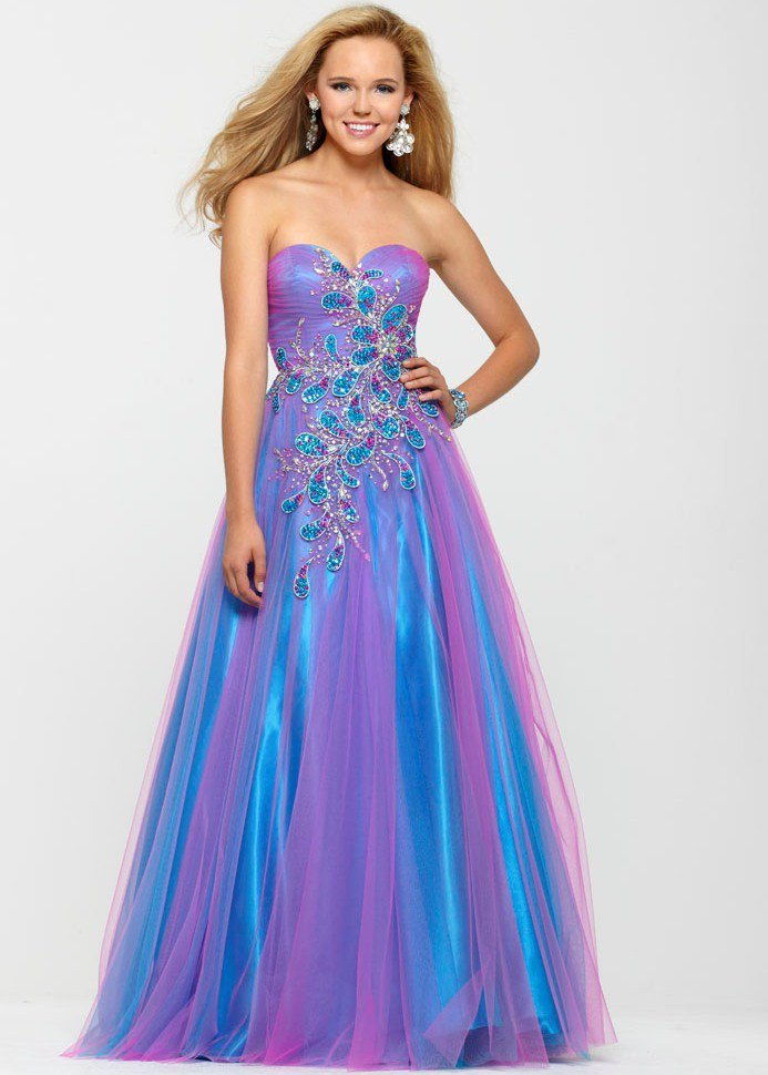 Multi Colored Prom Dresses - Holiday Dresses