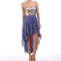 Karista-Gold/Periwinkle Homecoming Dress
