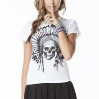 Chloe Indian Skull Top
