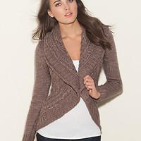 Ashley Cable Cardigan at GUESS