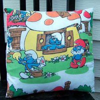 Smurf Vintage Decorative Pillow case 14