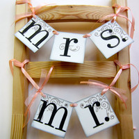 MR and MRS wedding chair hanger signs by CowCountryCreations