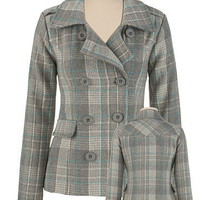 Plaid Pea Coat - maurices.com $79.00