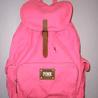 Victoria's Secret PINK Bright Neon Pink Backpack/Bookbag  NWT  on eBay!