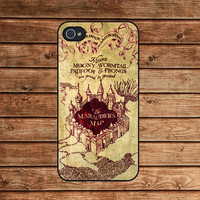 Harry Potter marauder's map--iphone 4 case,iphone 4s case  ,in plastic or silicone case