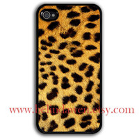 iPhone 4 Case, iPhone 4s Case, Leopard Decal iphone 4 case, Leopard Decal graphic iphone 4 case, iPhone hard Case