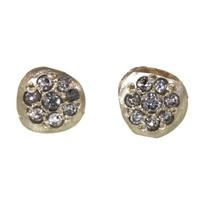 LFrank Jewelry | Grey Diamond Pavé Disc Studs