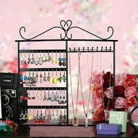 Amazon.com: Classic Black Jewelry Holder, Jewelry Stand for Earrings / Necklaces / Brecelets, Gift Idea: Home & Kitchen