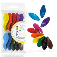 Left Right Ergonomic Crayons