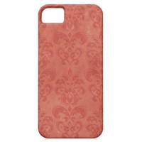 Retro Red Damask Vintage iPhone 5 Cases