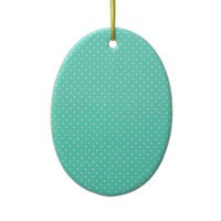 Mint Green And White Polka Dots Ornaments