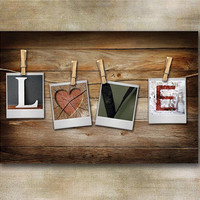 "Rustic ""LOVE"" Canvas print"