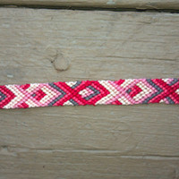 Red and Pink Jesus Fish Friendship Bracelet