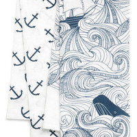 Swell Acquainted Tea Towel Set | Mod Retro Vintage Kitchen | ModCloth.com