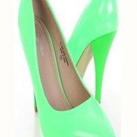 Neon Lime Patent Faux Leather Pointy Toe Pump Heels @ Amiclubwear Heel Shoes online store sales:Stiletto Heel Shoes,High Heel Pumps,Womens High Heel Shoes,Prom Shoes,Summer Shoes,Spring Shoes,Spool Heel,Womens Dress Shoes,Prom Heels,Prom Pumps,High Heel S
