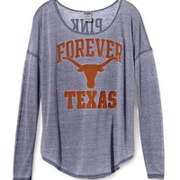 University of Texas Long-sleeve Drapey Tee