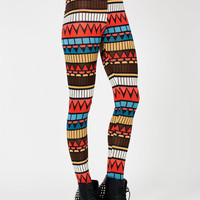 high-waisted-tribal-printed-leggings CORALBROWN - GoJane.com