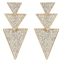 Cara Pave Arrow Drop Earring - Forever New