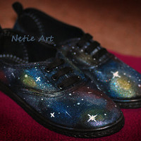 Nebula galaxy cosmic lace up shoes