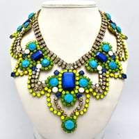 One of a Kind Statement Necklace- Athens 2 (Reserved)