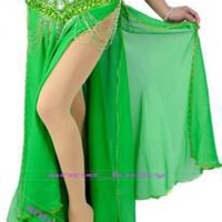 HOT New Sexy Belly Dance Bead Edge Dance Skirt 8 colors | eBay