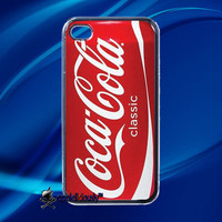 Funny Coca Cola Can Red Coke iPhone 4/ iPhone 4s Hard Case Cover Black/ Clear/ White