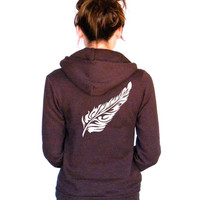 Feisty Feather - American Apparel Unisex Hoodie - XXS, XS, Small, Medium, Large, Extra Large, 2XL