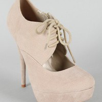 Special-60 Cut Out Lace Up Oxford Platform Bootie