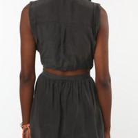 UrbanOutfitters.com &gt; Yellow is Gold by Sunshine &amp; Shadow Open-Back Shirtdress