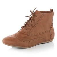 Tan brogue boots - Boots - View All Shoes - Shoes &amp; Boots - Dorothy Perkins