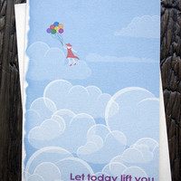 Above The Clouds Birthday Card from Sylvan Nest