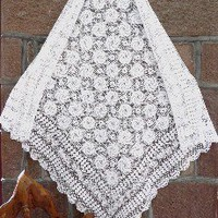 Hand made lace table cloth