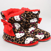 The Hello Kitty Super Plush Bootie in Leopard