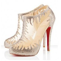 Christian Louboutin 2011 Suede Lace Boots [2011093007] - &amp;#36;299.00 : shoesoutletus.com, shoesoutletus.com