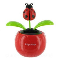 Solar Powered Ladybug Flower