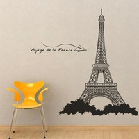 Large Eiffel Towerwith amazing details Vinyl Wall by walldecors