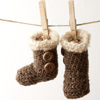 Personalized Bugg Boots: Nature & Ugg Inspired Booties for Babies and Small Children - Perfect Shower Gift