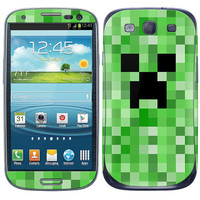 Samsung Galaxy S3 Phone Skin Cover - Minecraft Creeper