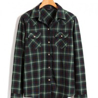 Green Plaid Oxford Shirt