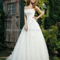 A line Ivory Lace Wedding Dress