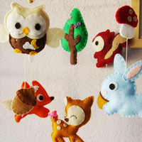 Woodland Wonderful with Tree deco mobile design by hingmade