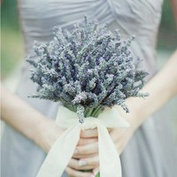 Lavender Bouquet Eco-Beautiful Weddings