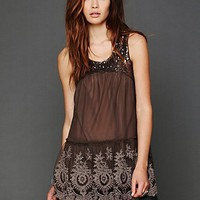 Free People Mirror Mirror Sequin Tunic